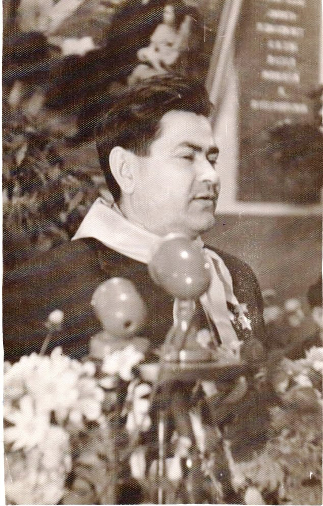 А.П. Маресьев в средней школе №8. г. Камышин. 1959 г.